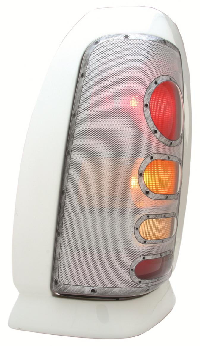 GT Styling 973418, Tail Light Cover, Pro-Beam (TM), Solid, Platinum, Plastic, Set Of 2