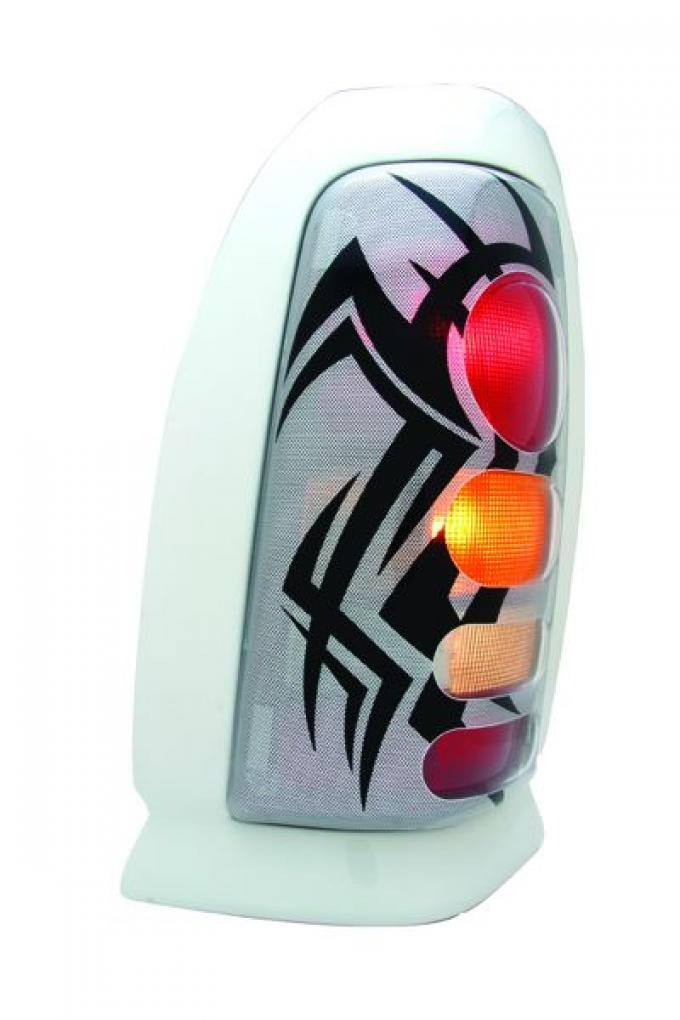 GT Styling 972567, Tail Light Cover, Pro-Beam (TM), Solid, Tribal, Plastic, Set Of 2