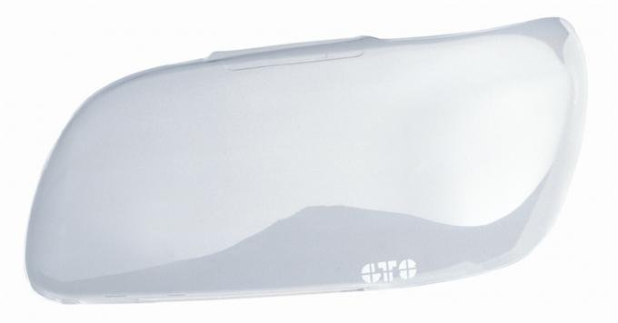 GT Styling GT0630C, Headlight Cover, Full Cover, Solid, Clear, Plastic, Set Of 2