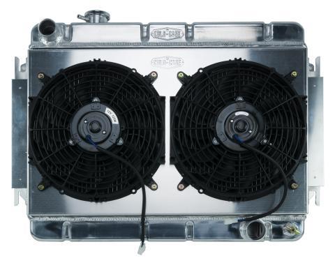 Cold Case Radiators 66-67 Chevelle / El Camino Aluminum Radiator And Dual 12 Inch Fan Kit MT CHE542K