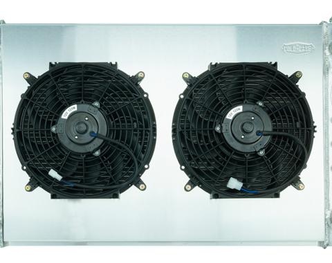 Cold Case Radiators 77-87 Pickup Truck 21 Inch LS Swap Aluminum Radiator AT and 12 Inch Fan Kit GMT556A21LSK