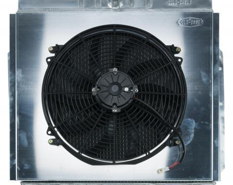 Cold Case Radiators 53-56 Ford F100 Aluminum Performance Radiator And 16 Inch Fan Kit FOT576AK