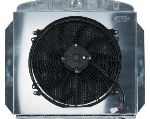 Cold Case Radiators 60-62 Chevy Truck C/K Series Aluminum Performance Radiator And 16 Inch Fan Kit GMT554AK