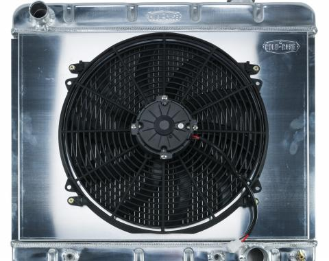 Cold Case Radiators 63-66 Chevy/GMC Pickup Truck Aluminum Radiator And 16 Inch Fan Kit AT GMT555AK