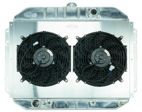 Cold Case Radiators 61-64 Ford F-100 Aluminum Performance Radiator and Dual 12 Inch Fan Kit FOT577AK