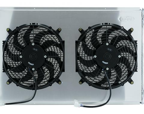Cold Case Radiators 77-87 GM Truck 21 Inch LS Swap Aluminum Radiator and 14 Inch Fan Kit GMT556A21SSK