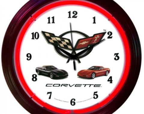 Neonetics Neon Clocks, Corvette C5 Neon Clock