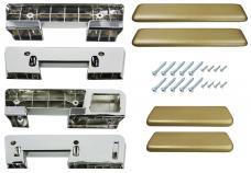 RestoParts Armrest Kit, Front/Rear, 1965-67 A-Body, Gold AK17GD