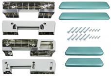 RestoParts Armrest Kit, Front/Rear, 1965-67 A-Body, Turquoise AK17TQ
