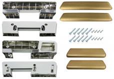 RestoParts Armrest Kit, Front/Rear, 1965-67 A-Body, Gold 65 GTO AK17GD65