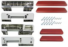 RestoParts Armrest Kit, Front/Rear, 1965-67 A-Body, Bronze AK17BZ