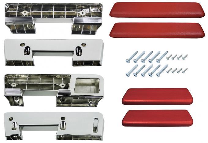 RestoParts Armrest Kit, Front/Rear, 1965-67 A-Body, Red 65 GTO AK17RDGT