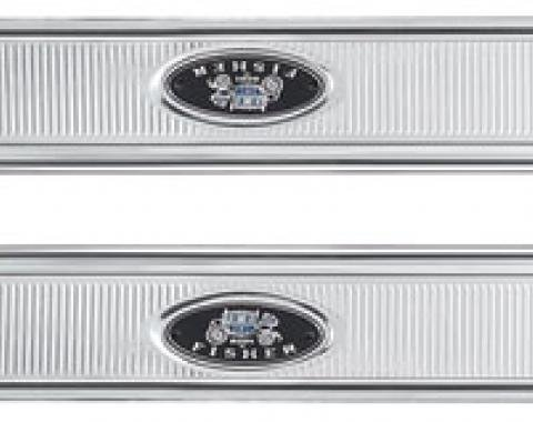 "RestoParts Step Plates, 1964-67 GM ""A"" Body, Ribbed Style CHV4150"