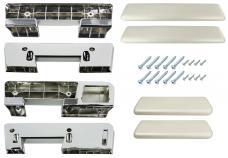 RestoParts Armrest Kit, Front/Rear, 1965-67 A-Body, Parchment AK17PM