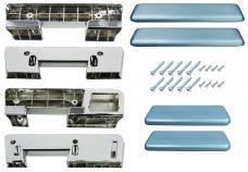 RestoParts Armrest Kit, Front/Rear, 1965-67 A-Body, Light Blue AK17LB