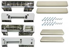 RestoParts Armrest Kit, Front/Rear, 1965-67 A-Body, Fawn AK17FN