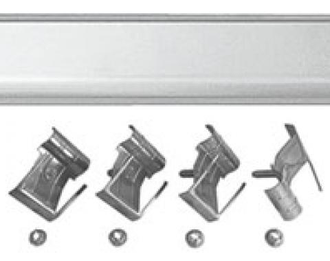 RestoParts Molding, Top Of Tailgate, 1968-72 El Camino, w/ Clips 03M600