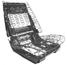 RestoParts Seat Frame, Bucket, 1966-68 GM A Body, Left Hand CH25749-LH