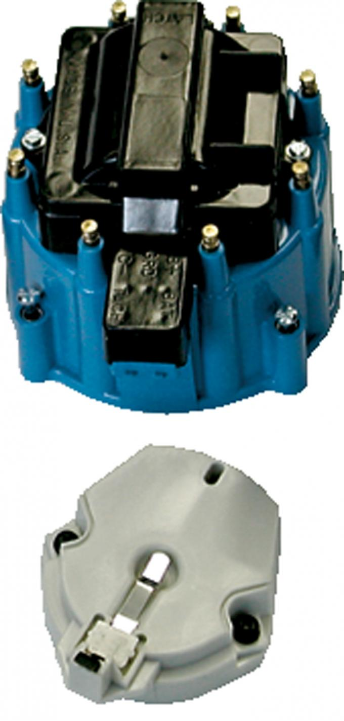 Proform Engine Distributor GM HEI Coil, Cap and Rotor Kit, Blue Cap 66942BC