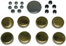 Proform Brass Freeze Plug Kit, For Ford 352/390/428 Engines, All Sizes Needed Included 66554