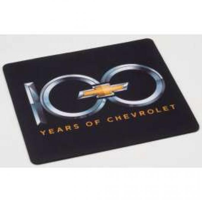 Mouse Pad,Computer,100th Chevrolet Centennial,Black