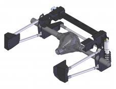 Detroit Speed QUADRALink Suspension Kit Weld-In Axle Brackets 73-87 C10 Truck Double Adj Shocks w/Remote 041751-R