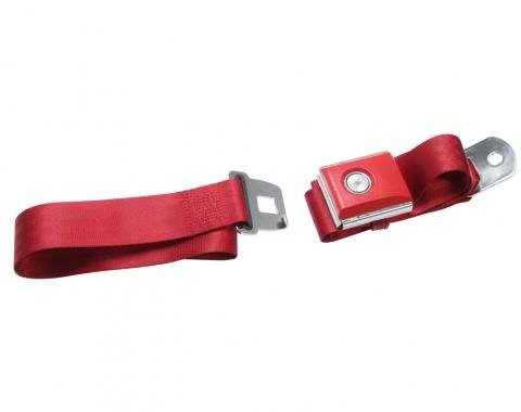 Scott Drake Push button Seat belt (Dark Red) SB-DR-PBSB