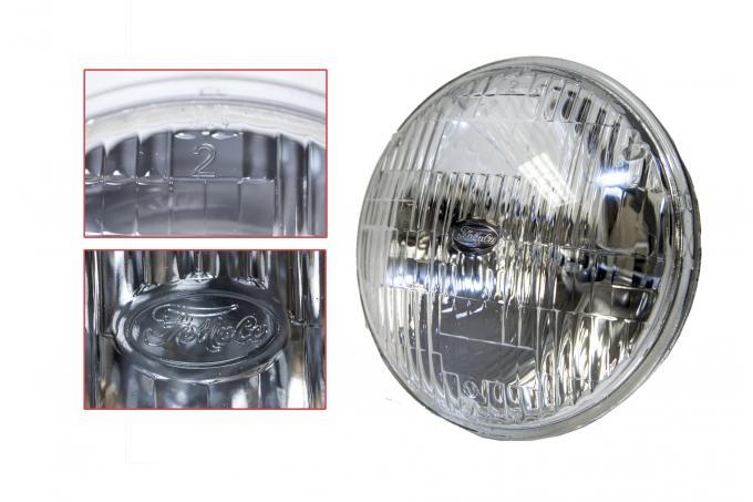 "Scott Drake 1964-1973 Ford Mustang 5 3/4"" High/Low Beam Round Halogen Sealed Beam Headlamp B8AZ-13007-A"