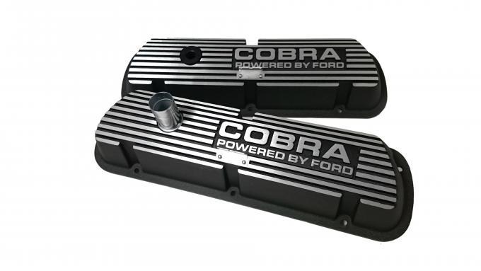 Scott Drake 1964-73 Cobra Block Letters, Black Valve Covers S2MS-6A582-A/B