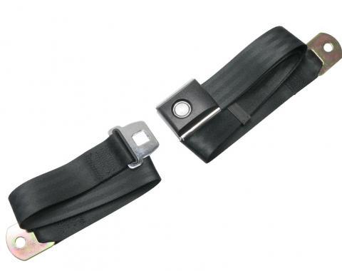 Scott Drake Push button Seat belt (Black) SB-BK-PBSB