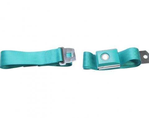 Scott Drake Push button Seat belt (Aqua) SB-AQ-PBSB