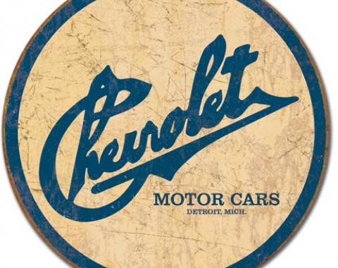Tin Sign, Chevy Historic Logo