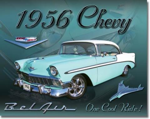 Tin Sign, Chevy 1956 Bel Air
