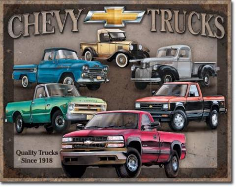 Tin Sign, Chevy Truck Tribute