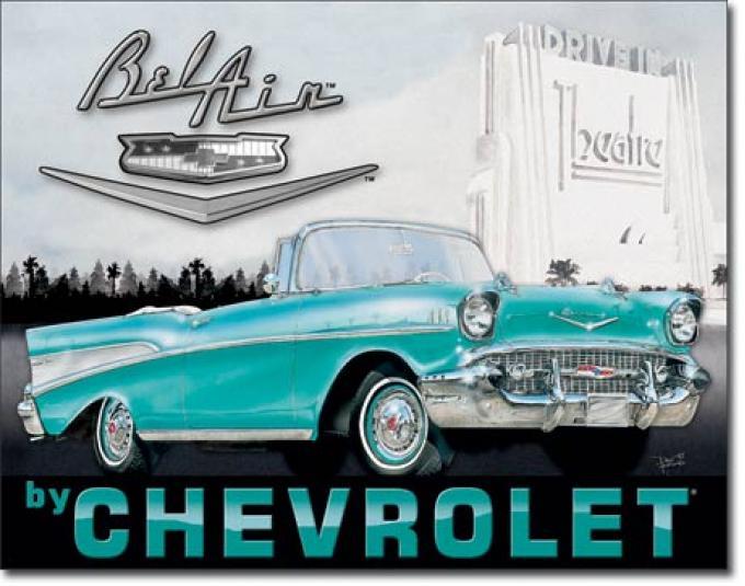 Tin Sign, 1957 Chevy Bel Air