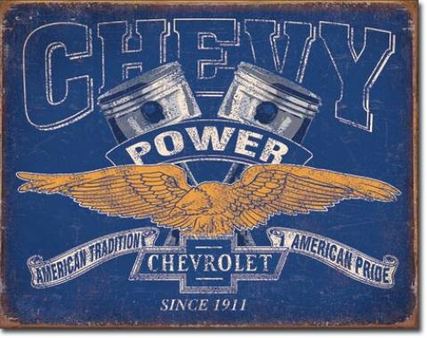 Tin Sign, Chevy Power