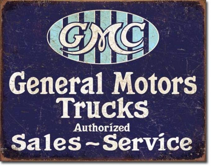 Tin Sign, GMC Trucks - Authorized