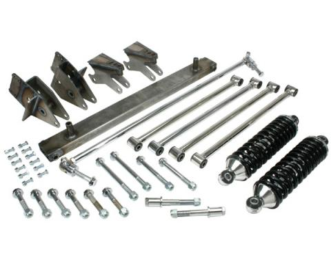 Chevy Truck Rear Four Link Suspension Kit, With Steel Bars,1947-1955 (1st Series)