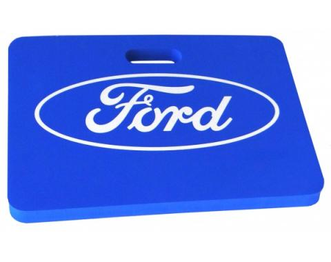 """Kneeling Mat, 18""""x16""""x1.25"""" Blue With Ford Logo"""