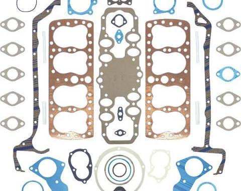 Engine Gasket Set - Complete - Copper Head Gaskets - Ford Flathead V8 90 & 95 & 100 HP 24 Stud Engine