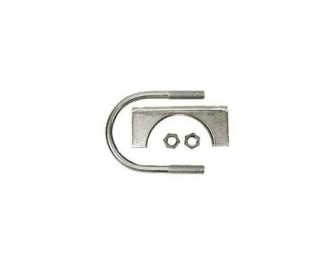 """Early Chevy Exhaust Muffler Clamp, Stainless Steel, 2"""", 1949-1954"""