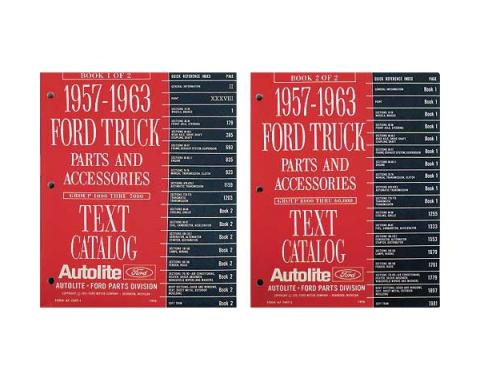 1957-1963 Ford Truck Parts and Accessories Text Catalog - Bound Catalog - 2 Volume Set - 1,993 Pages