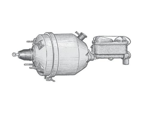 Power Brake Booster - Custom Rebuilding - Drum Brake Equipment - Ford & Mercury Cars