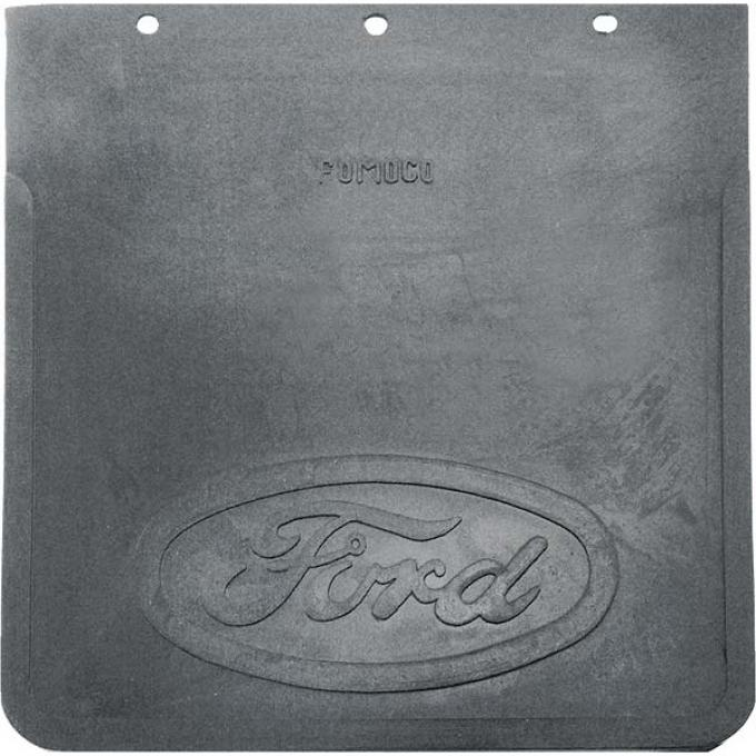 Ford Mud Flap - Black - Heavy Rubber - Without Mounting Brackets