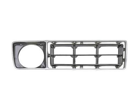 Ford Pickup Truck Grille Shell Insert - Right Side - Argent& Black - F100 Thru F350