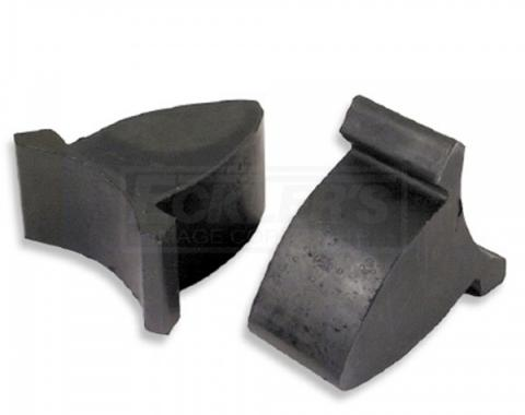 Chevy Axle Bumpers, Lower, Rear, Best Quality, 1955-1957