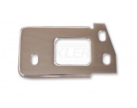 Chevy Hood Latch Plate, Chrome, 1955-1957