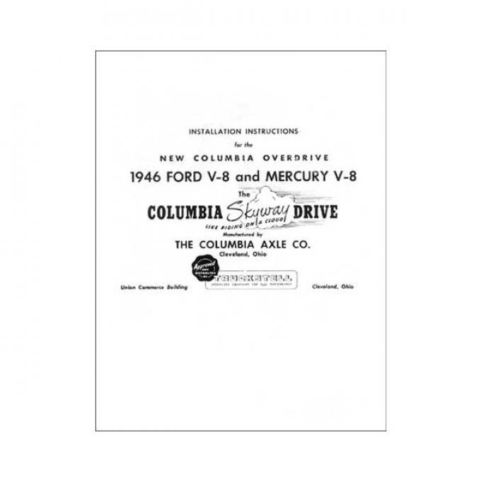 Columbia Rear Axle Installation Instructions - 8 Pages - Ford & Mercury