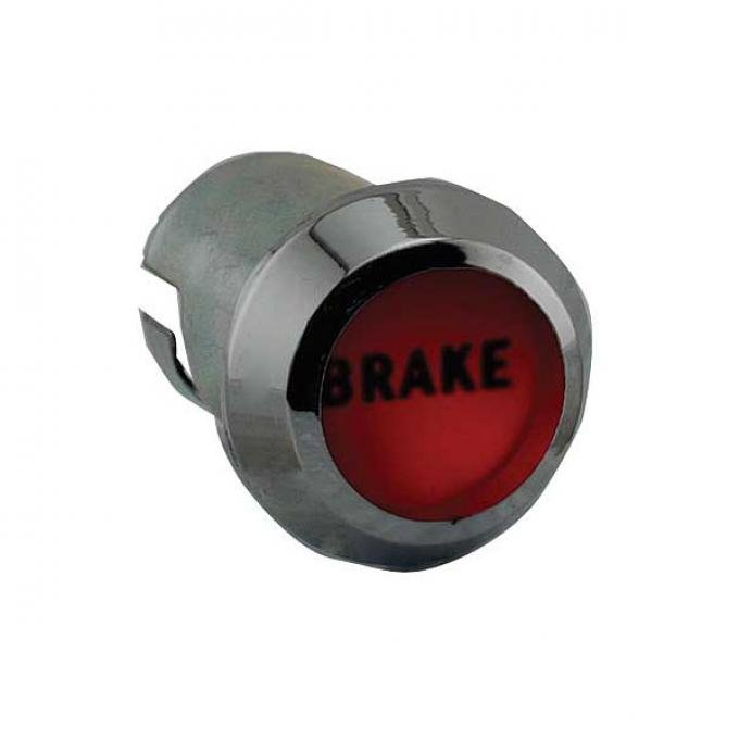 Ford Pickup Truck Brake Warning Light Bezel - Includes Red Lens - Mounts On The Dash - F100 Thru F350