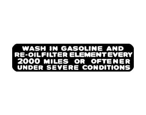 Oil Filler Cap Decal - Black & White - Ford Pickup Truck